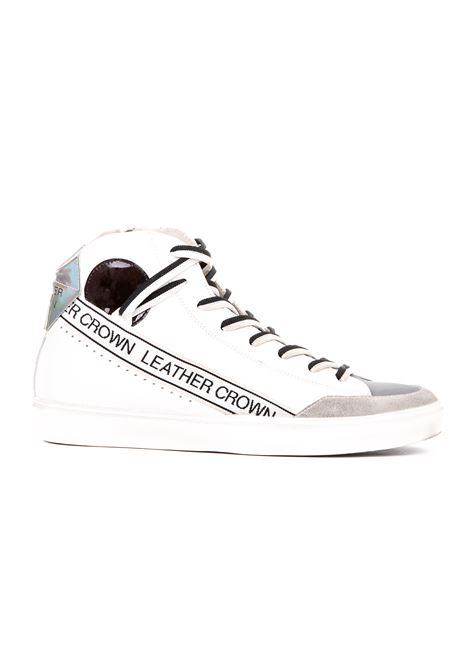 HIGH SNEAKERS IN LEATHER AND SUEDE LEATHER CROWN | Sneakers | MSTRIPEBIANCO