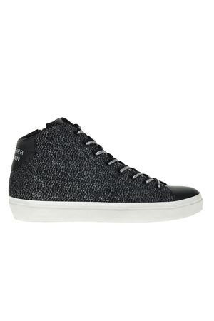 SNEAKERS IN VELLUTO LEATHER CROWN | Sneakers | W1333NERO
