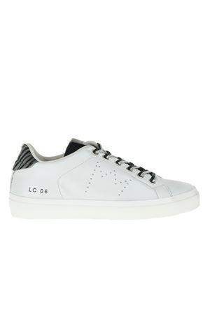 SNEAKERS IN PELLE BIANCO PERLA LEATHER CROWN | Sneakers | WL106BIANCO PERLA