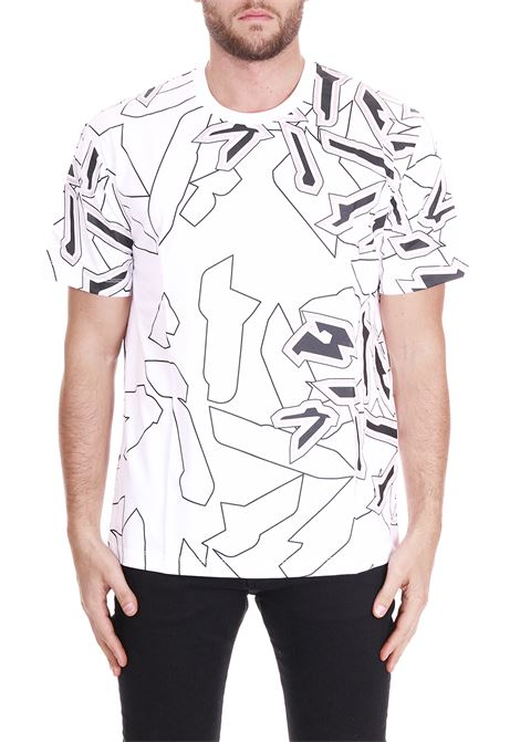 T-SHIRT WITH CAMOUFLAGE PRINT LES HOMMES | T-shirt | URF800PUF8221095