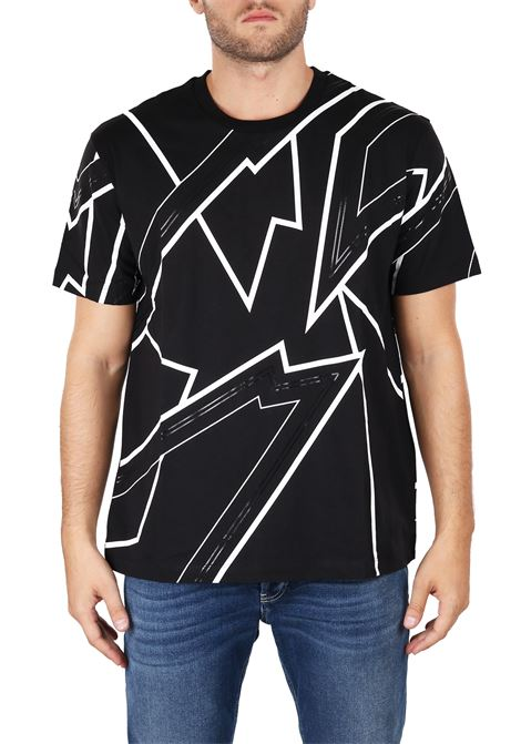 T-SHIRT WITH ELECTRIC PRINT LES HOMMES | T-shirt | URF800PUF823A9001