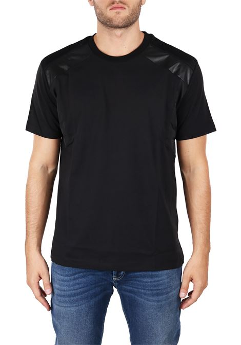 NYLON AND ECO-LEATHER T-SHIRTS LES HOMMES | T-shirt | URF804AUF800F9000