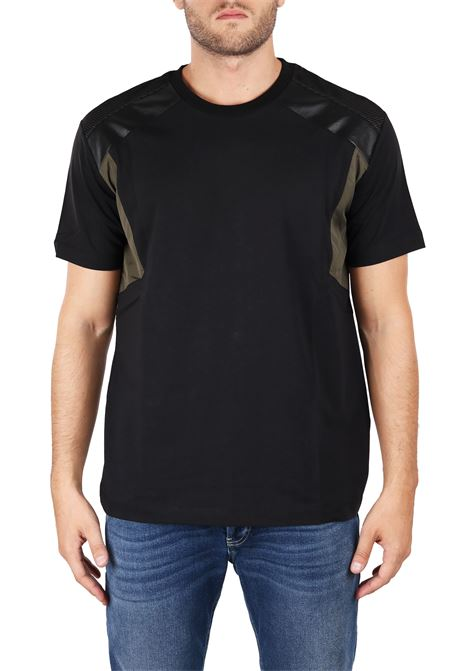NYLON AND ECO-LEATHER T-SHIRTS LES HOMMES | T-shirt | URF804AUF800F9003