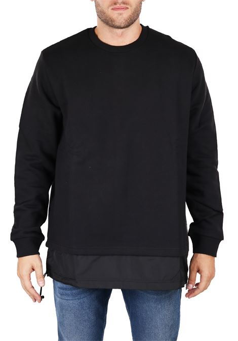 LONG COTTON AND NYLON SWEATSHIRT LES HOMMES | Sweatshirts | URF856AUF850G9005