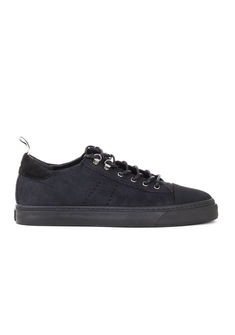 SNEAKERS IN NABUK BLU LOW BRAND | Sneakers | L1SFW18192944E044