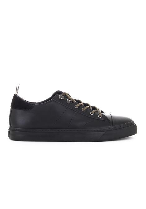 BLACK LEATHER SNEAKERS LOW BRAND | Sneakers | L1SFW18192945D001