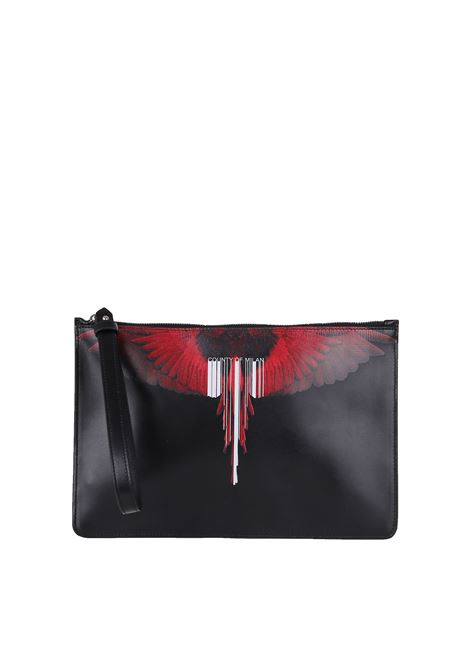 POCHETTE IN LEATHER MARCELO BURLON | Clutches | CMNA013E188540401020