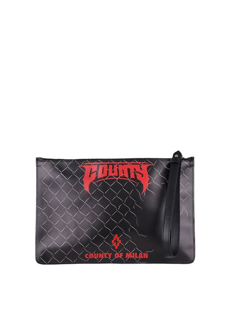 POCHETTE IN LEATHER MARCELO BURLON | Clutches | CMNA013E188540411088