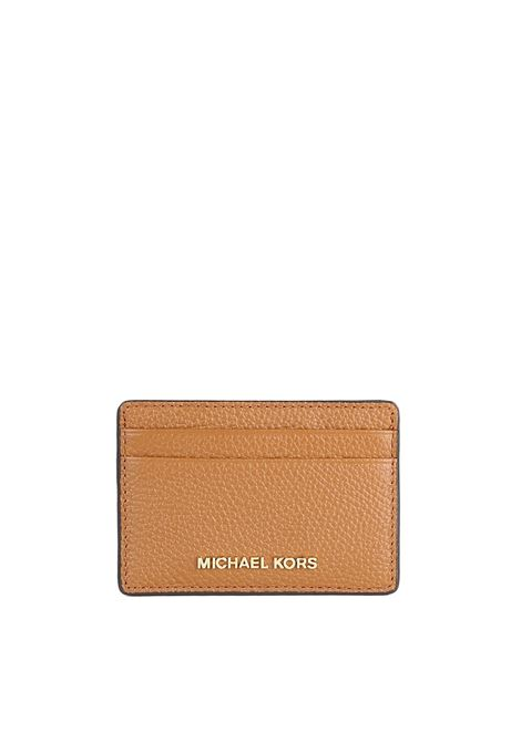 LEATHER CARD HOLDER MICHAEL DI MICHAEL KORS | Portacarte | 32F7GF6DOLMONEYPIECES203