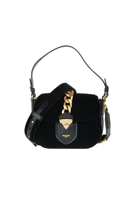 '' HIDDEN LOCK '' BAG IN VELVET MOSCHINO | Bags | 74928211A1555