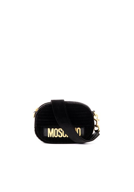 VELVET QUILTED BAG WITH LOGO MOSCHINO | Bags | A747982111555