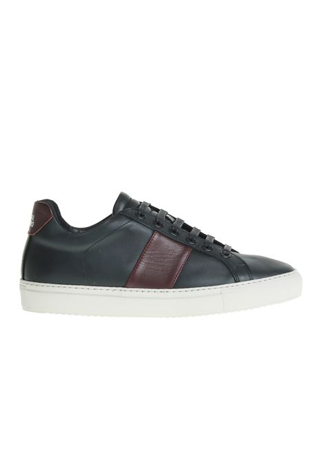 LEATHER SNEAKERS WITH CONTRAST SIDE PANELS NATIONALSTANDARD | Sneakers | M0418F097