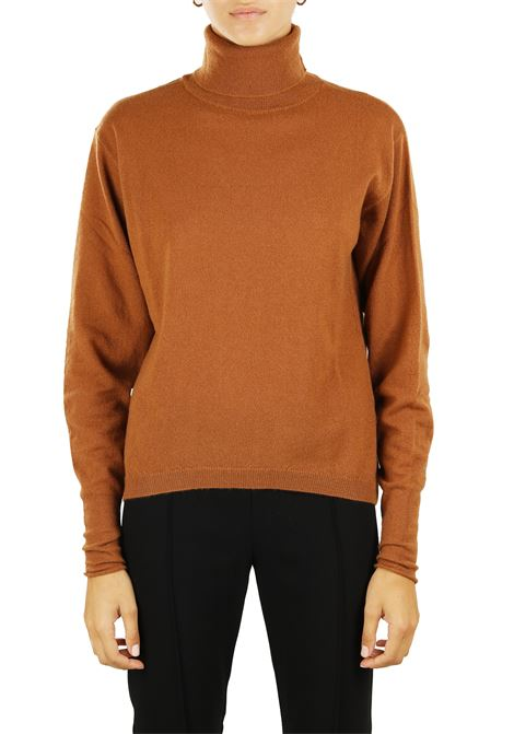 HIGH NECK SWEATER IN WOOL AND CASHMERE Nude | Sweaters | 1101301237