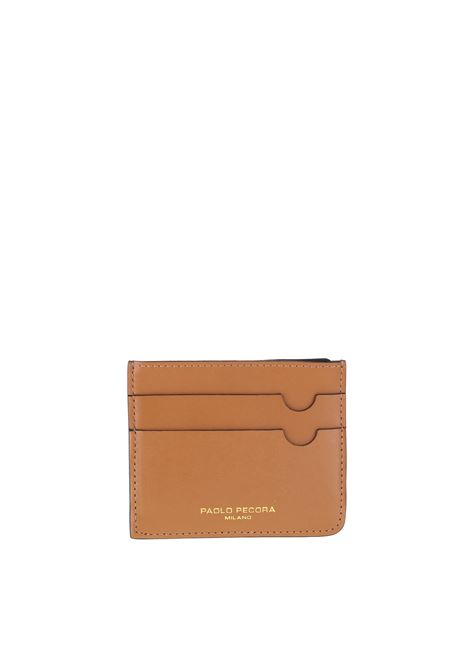 LEATHER CARD HOLDER PAOLO PECORA | Card Holder | 7302T2031287
