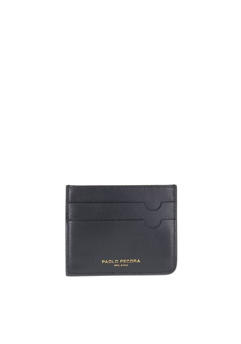 LEATHER CARD HOLDER PAOLO PECORA | Portacarte | 7302T2039000