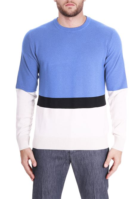 SWEATER WITH TRICOLOR BANDS PAOLO PECORA | Sweaters | A05570100100