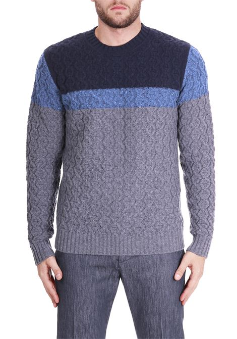 TRICOLOR WOOL SWEATER PAOLO PECORA | Sweaters | A08970770004
