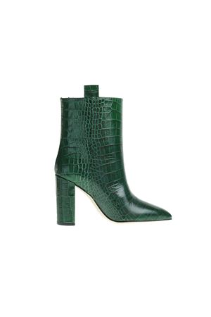 CROCODILE PRINTED LEATHER ANKLE BOOTS PARIS TEXAS | Ankle Boots | PX128CVERDE