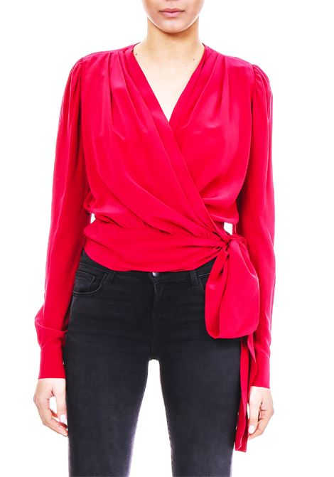 BLOUSE IN SILK CREPE PINKO | Blouse | BASILIO1B13CH7050R51