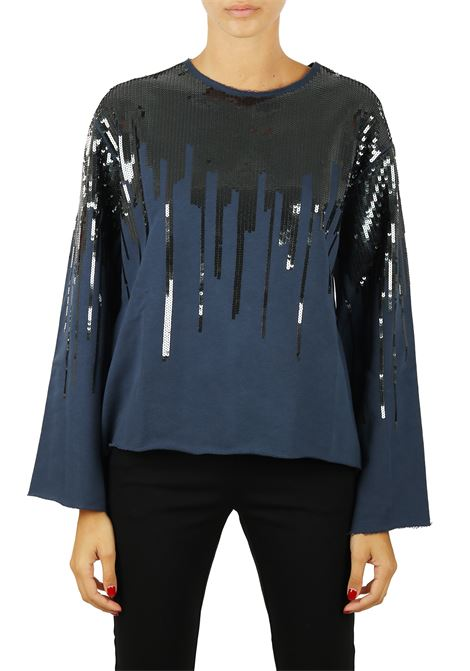 SWEATSHIRT WITH SEQUINS PINKO | Sweaters | LUCA1B13GBY51HG57