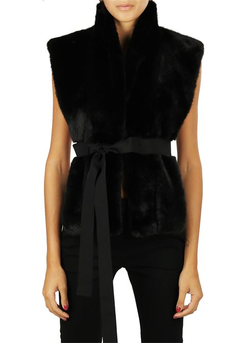 COLLAR IN ECO FUR PINKO | Fur coat | URSINO1B204MY51XZ99