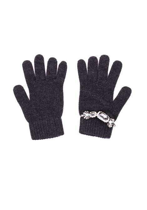GLOVES IN CASHMERE AND CRYSTALS REGINA | Gloves | 81234FULIGGINE
