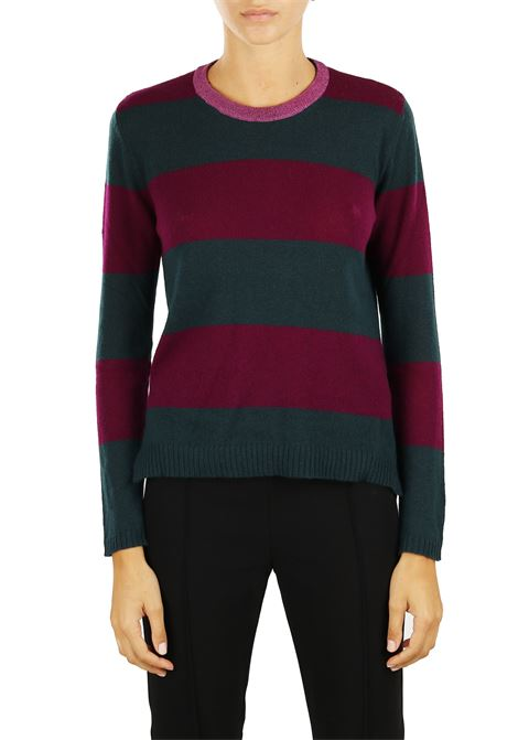 STRIPED CASHMERE BLEND JERSEY ROBERTO COLLINA | Sweaters | 220012234