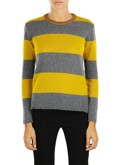 STRIPED CASHMERE BLEND JERSEY ROBERTO COLLINA | Sweaters | 220012243
