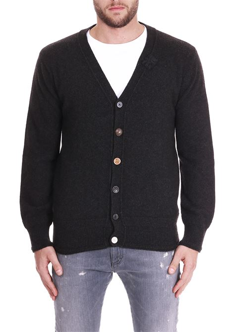WOOL CARDIGAN SIDE SLOPE | Cardigans | SSL28411BK19