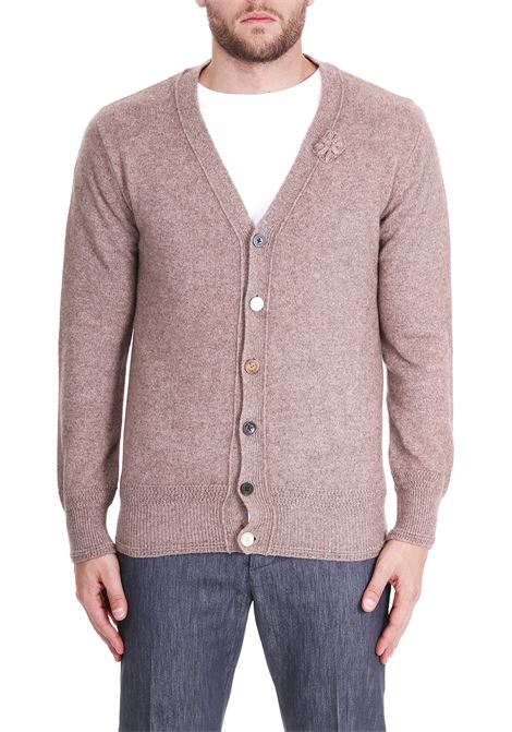 WOOL CARDIGAN SIDE SLOPE | Cardigans | SSL28411BK23