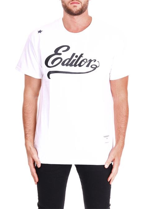 T-SHIRT WITH LOGO THE EDITOR | T-shirt | E50601N211000BIANCO