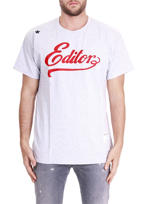 T-SHIRT WITH LOGO THE EDITOR | T-shirt | E50601N211000GRIGIO