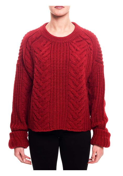 RED WOOL BLEND SWEATER weili zheng | Sweaters | WWZKC35C01