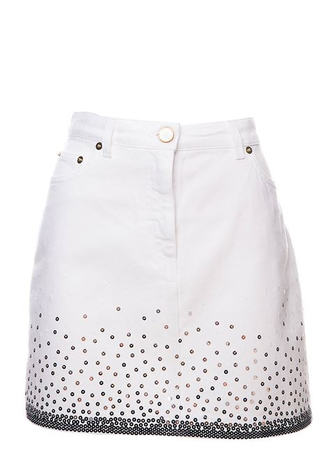 WHITE MINI SKIRT LOVE ME EVERYDAY CAPSULES IN SEQUINS ALBERTA FERRETTI | Skirts | 012616882