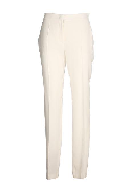 WHITE CREPE PANTS ALBERTA FERRETTI | Pants | 03081618A0002