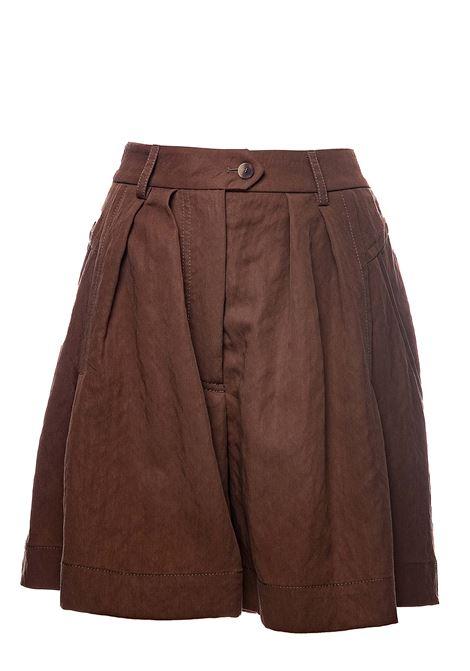 HIGH WAIST BROWN SHORTS ALBERTA FERRETTI | Shorts | 032513596