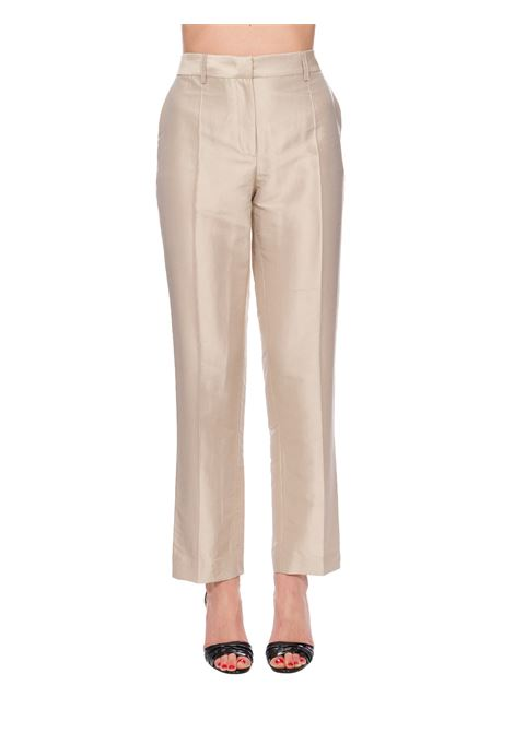 BEIGE TAILORED SILK TROUSERS ALBERTA FERRETTI | Pants | 03280121V0083