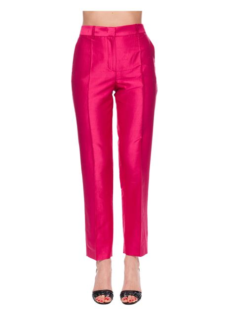 FUCSIA TAILORED SILK TROUSERS ALBERTA FERRETTI | Pants | 03280121V0214