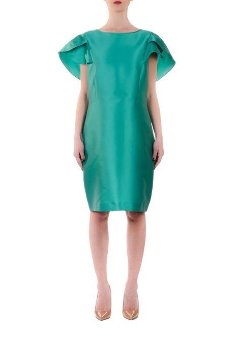 GREEN SLEEVES DRESS WITH FLOUNDS ALBERTA FERRETTI | Dress | 04401636A0365