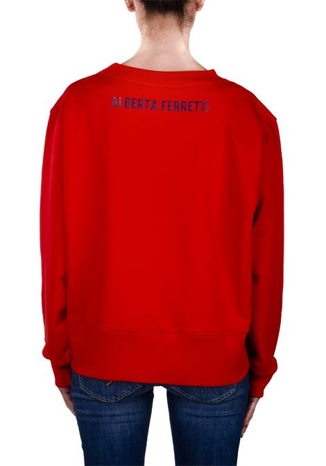 ITS MY YEAR CAPSULE RED COTTON SWEATSHIRT ALBERTA FERRETTI | Sweatshirts | 1703173112