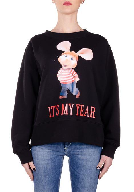 ITS MY YEAR CAPSULE BLACK COTTON SWEATSHIRT ALBERTA FERRETTI | Sweatshirts | 1703173555