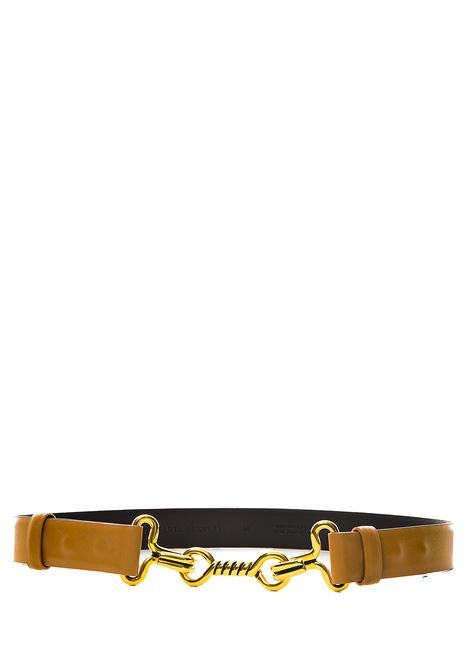 BEIGE  BELT IN MARINIERE DESIGN LEATHER ALBERTA FERRETTI | Belts | 3003169386
