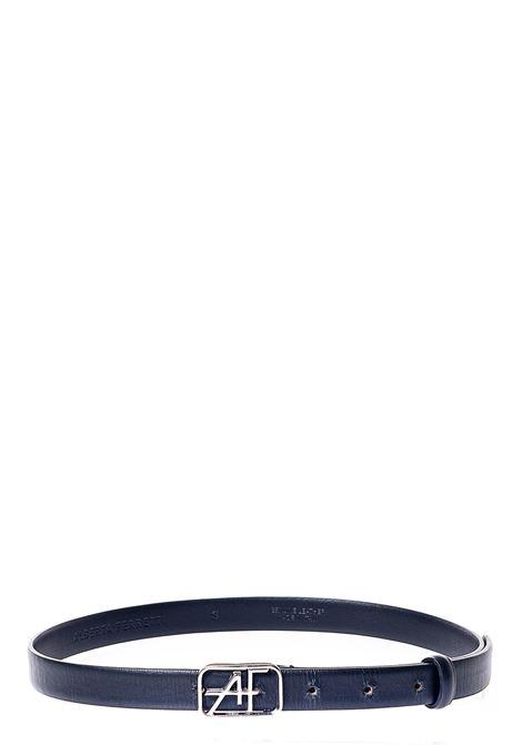 BLACK BELT AF LOGO IN LEATHER ALBERTA FERRETTI | Belts | 30071693555