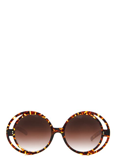 BROWN ROUND SUNGLASSES WITH LOGO ALBERTA FERRETTI |  | 45011911105
