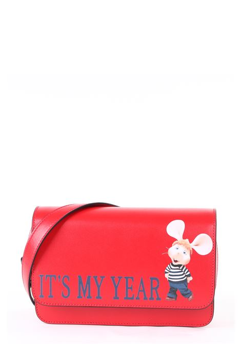 RED BAG WITH TOPOGIGIO MODEL IT'S MY YEAR PRINT ALBERTA FERRETTI | Bags | 74018006116