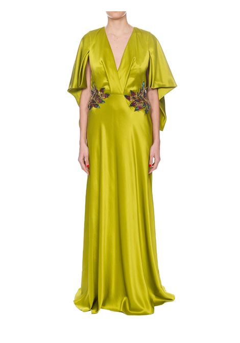 LONG EVENING DRESS WITH FLORAL APPLICATION ALBERTA FERRETTI | Dress | A04054217452
