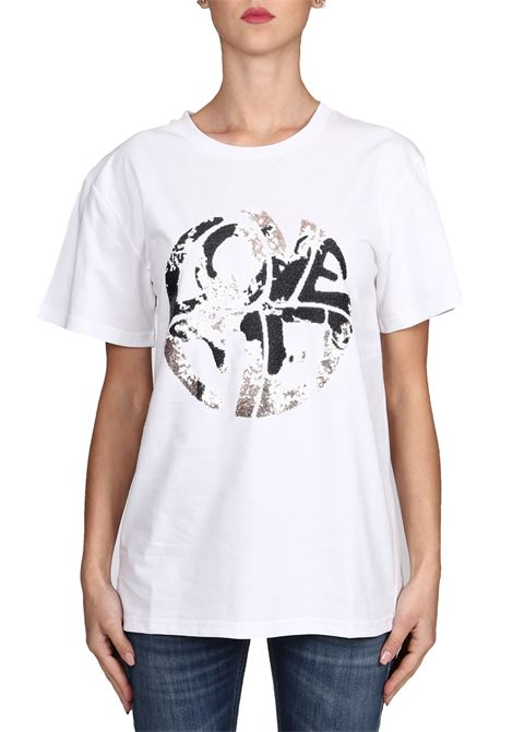 WHITE T-SHIRT LOVE ME IN COTTON ALBERTA FERRETTI | T-shirt | J070316721001