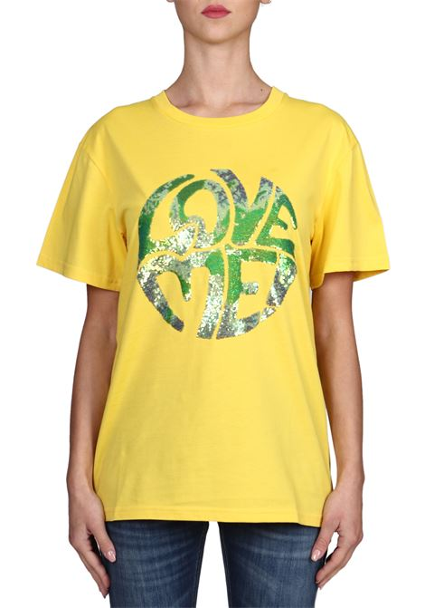 YELLOW T-SHIRT LOVE ME IN COTTON ALBERTA FERRETTI | T-shirt | J070316721027