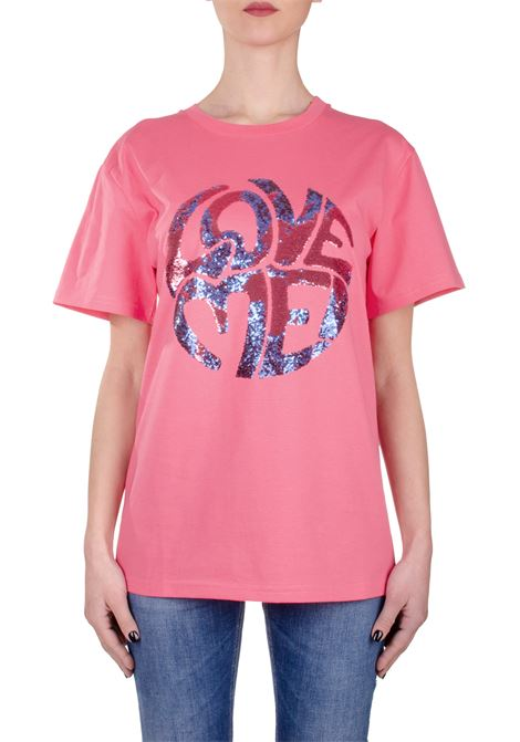 PINK T-SHIRT LOVE ME IN COTTON ALBERTA FERRETTI | T-shirt | J070316721206