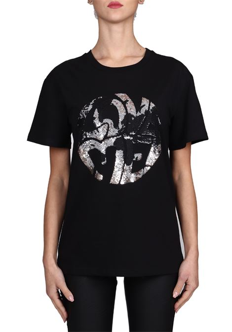 BLACK T-SHIRT LOVE ME IN COTTON ALBERTA FERRETTI | T-shirt | J070316721555